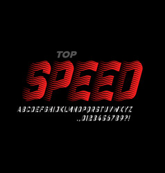 speed style modern sport font alphabet letters vector image