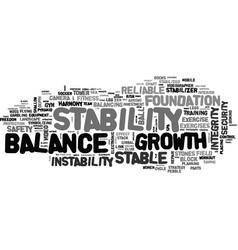 Stability word cloud concept vector