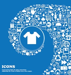 T-shirt icon sign Nice set of beautiful icons vector image