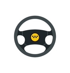 Taxi steering wheel icon flat style vector