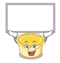 Up board egg tart character cartoon vector