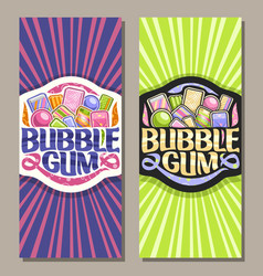 Vertical banners for bubble gum vector