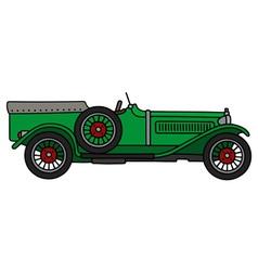 Vintage green racing car vector