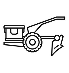 Walking tractor icon outline style vector