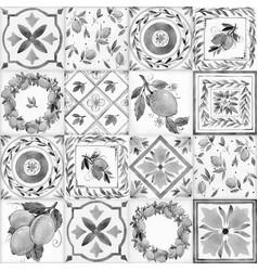 watercolor ornament square pattern vector image