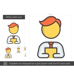 White collar line icon vector