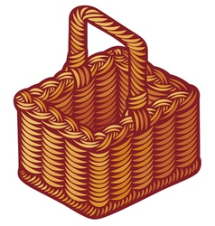 Wicker basket vector