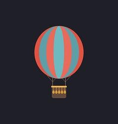 air balloon computer symbol vector image vector image
