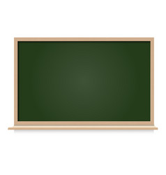 black board blank space isolated vector image vector image