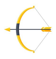 Bow and arrow icon vector