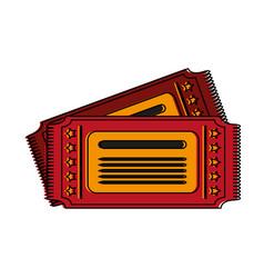 cinema tickets symbol vector image
