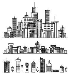 city and elements for design vector image vector image