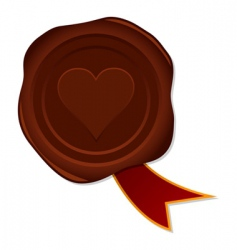 love seal vector image vector image
