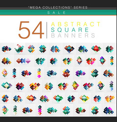 mega collection of 54 square geometrical web vector image vector image