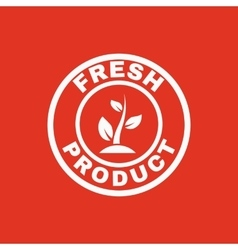 The fresh product icon Eco and bio ecology vector image vector image