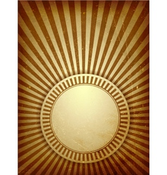 Brown grunge light rays background vector image vector image