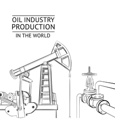 Oil industry objects vector image vector image