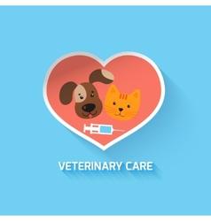 Veterinary heart symbol vector image vector image