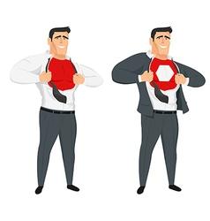 Abstract office worker superhero vector image