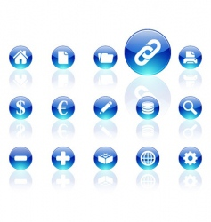aqua icons vector image vector image