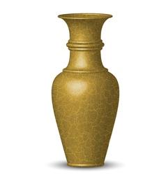golden vase vector image