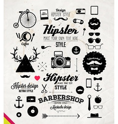 Hipster Label Set vector image vector image