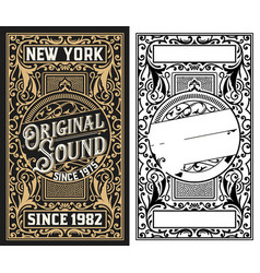 Vintage card western style vector