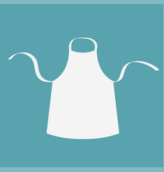 White blank kitchen cotton apron uniform for cook vector