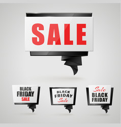 black friday banners vector image
