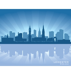 Leicester England skyline vector image vector image