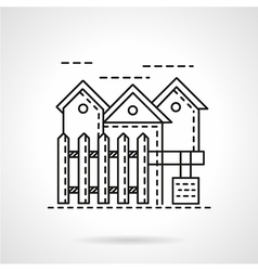 Rent of residence line icon vector image vector image