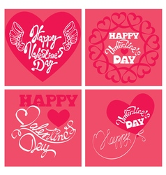 4 cards valentines day 380 vector