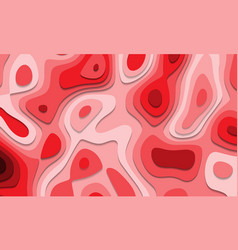 abstract red tone paper cut 3d layers overlap art vector image