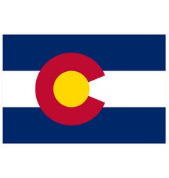 Accurate correct colorado co state flag vector