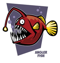 Anglerfish vector image