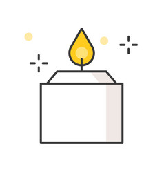 aroma candle filled outline icon vector image