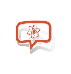 Atom message sticker orange vector image