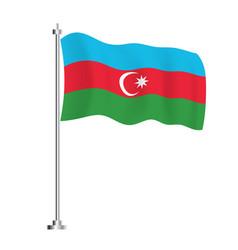 Azerbaijani flag isolated wave flag azerbaijan vector