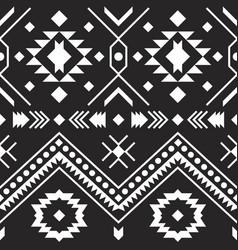 Aztec tribal pattern geometric design vector