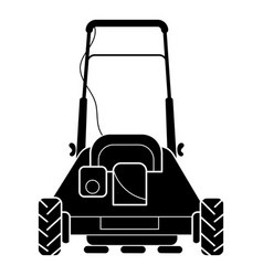 Back of lawn mower icon simple style vector