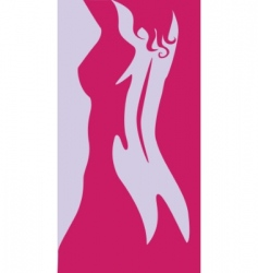 beautiful artwork nude woman silhouette vector image