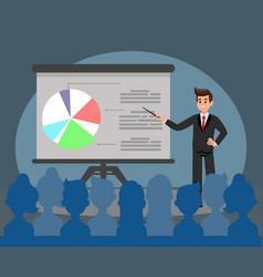 Business presentation flat vector