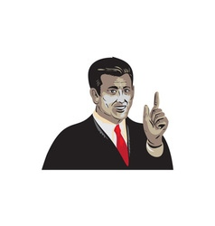 Businessman Pointing Up WPA vector