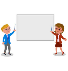 businesswomen with blank board vector image