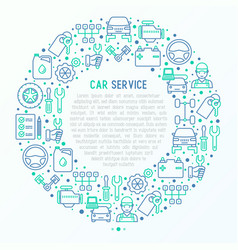 car service concept in circle vector image