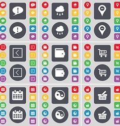 Chat bubble Cloudd Checkpoint Arrow left Wallet vector image