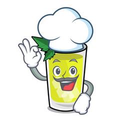 Chef mint julep character cartoon vector