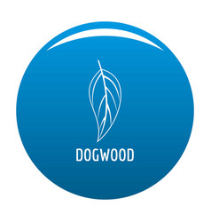 Dogwood leaf icon blue vector
