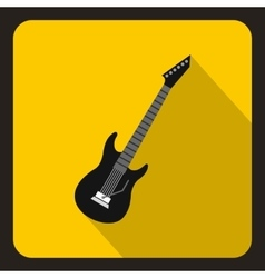 Electric guitar icon flat style vector image
