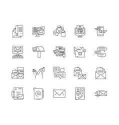 email line icons signs set outline vector image